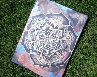 12x16 Life Changes- Mandala Painting