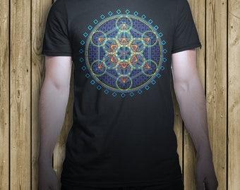 Metatron T shirt , flower of life t shirt , sacred geometry t shirt , festival tshirt , rave t shirt , sacred t shirt , unisex