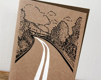 Country road card - gocco screen-print