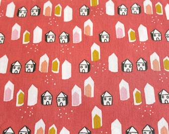 Fabric coupon 50 x 70 cm small coral House