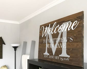 Wooden Sign - Man Cave Sign - Man Cave Decor - Painted Wooden Sign
