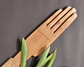 Rare Wood Stretcher and Dryer for Gloves - Antique Glove Maker Collection - Old Crafts Collectible - Rustic Industrial Wall Decor