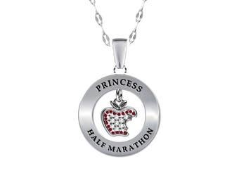 13.1 Princess Half Marathon Apple Necklace