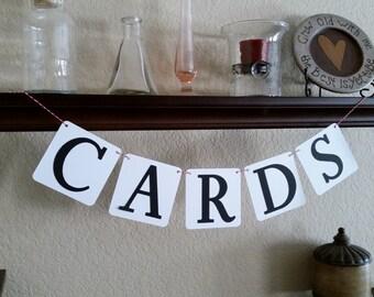Petite Cards Banner, Petite Wedding Cards Sign, Cards Sign, Wedding Decor