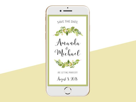 electronic save the date wedding
