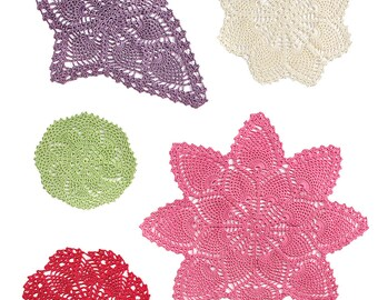 Crochet Classic Doilies in Size 3 Thread pdf pattern download