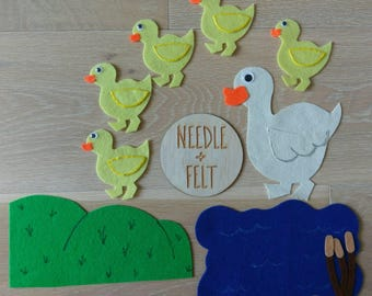 Five Little Ducks Felt Board Story Song