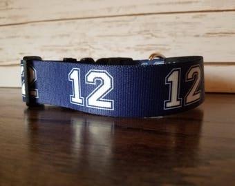 Dog Collar Seattle Seahawks Inspired 12 Design Navy 12