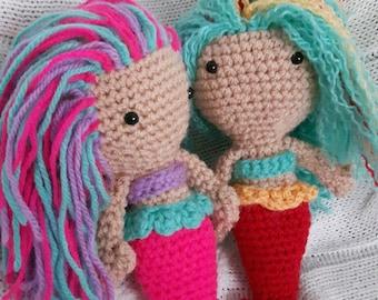 Serena and Kina the Mermaids Crochet Dolls