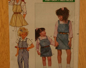 Butterick Pattern Number 6620 Girls Sizes 4-5-6