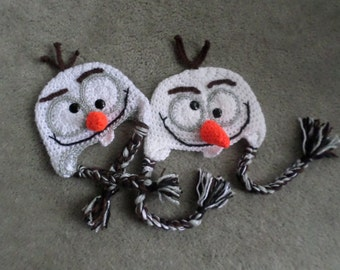 Olaf snowman hat made to order in sizes newborn to adult