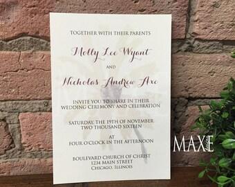 Vintage Daisy Wedding Invitations by Maxe Invitations - Deposit