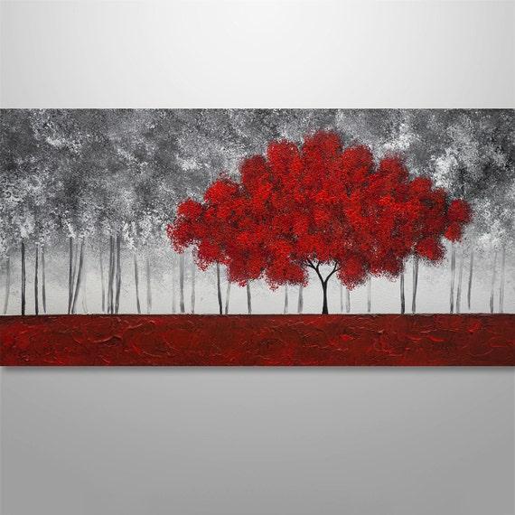 peinture abstraite peinture de larbre peinture textur e. Black Bedroom Furniture Sets. Home Design Ideas