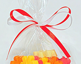 Gusseted Poly Bags -- 2-1/2 x 1-1/4 x 7-1/2 -- 100 bags --1.5 mil - Merchandise DIY Packaging Supplies, Wedding/Party favor bags(5837)
