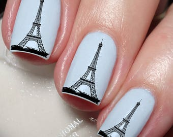 Eiffel Tower Paris France French Nail Art Sticker Water Transfer Decal 191