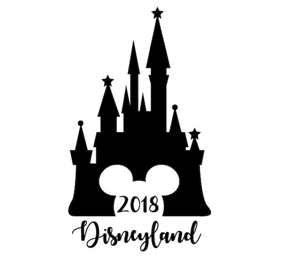 2018 Disney SVG Cut File 2018 Disneyland Cinderella Castle