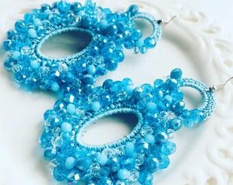 Earrings - Maxi Earrings - Turquoise Earrings - Divina Earrings