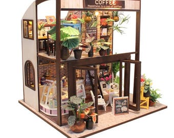 FREE shipping!!! Furniture DIY Doll House Wooden Miniature Doll Houses Furniture Kit Box Puzzle Assemble Dollhouse Toys For children gift