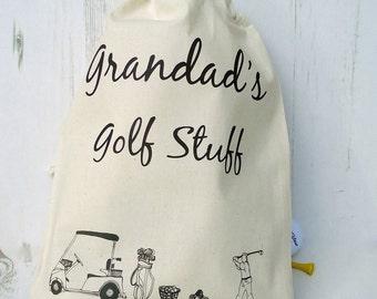 Golf sports bag of stuff - golf tees - golf stuff - swimming stuff - running stuff - gadgets||