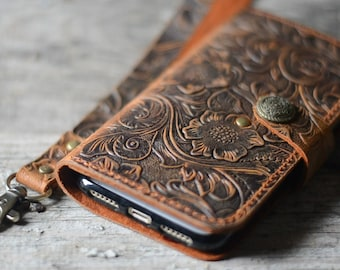 Genuine   leather Wallet iPhone 8  Plus Case   leather Case Wallet, iPhone 8 /8 plus  X   case iphone 6s /  7 plus leather case  wristlet