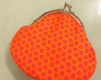 NEW Coin Purse - Cotton Fabric with Metal Frame