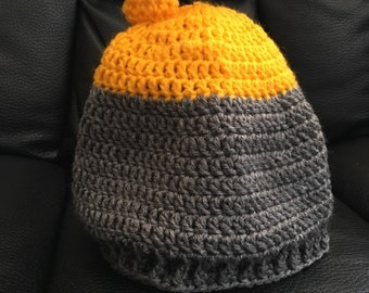 Curling stone hat - yellow