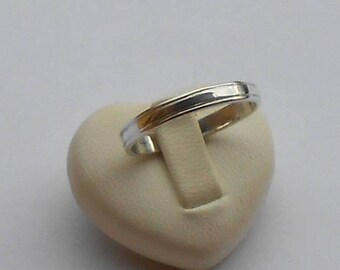 Traditional wedding band in 950 silver, silver ring, silver ring