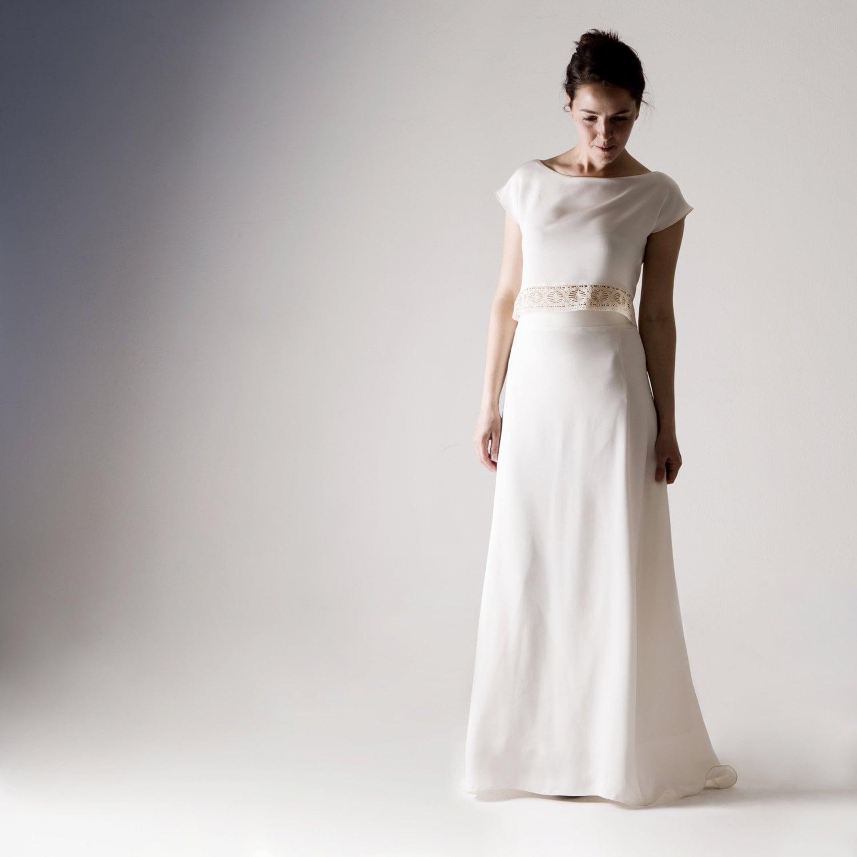 Brautkleid zwei Stück Hochzeitskleid Hochzeitskleid trennt