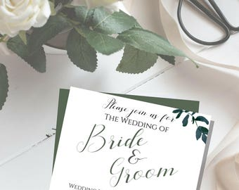 Wedding Invitation *PDF PRINTABLE*