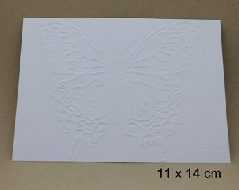 EMBOSSED cards to choose from, set of 10 cards, embellishment, card making, paper, cardstock, scrapbooking, background, cold embossing, relief