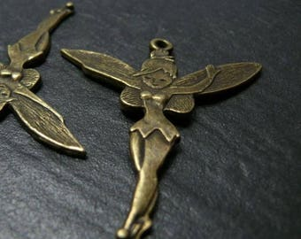 Finish jewelry bronze large Tinkerbell 1 pendant