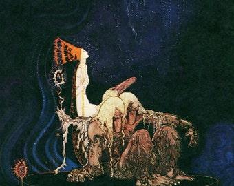Kay Nielsen ART DECO Nouveau PRINT Original Vintage 1976 from East of the Sun
