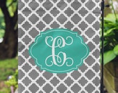 Garden Flag - Personalized Garden Flag - Custom Flag - Personalized Yard Flag - Quatrefoil Flag - Wedding Gift - Housewarming - Double Sided