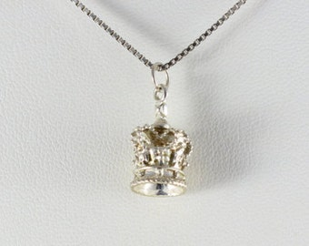 Sterling silver Royal Crown Charm