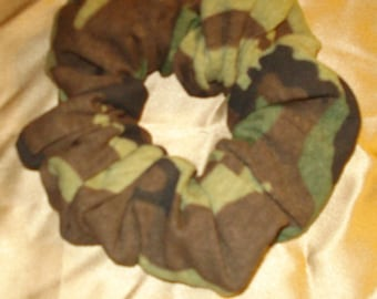 Camouflage Scrunchie- Hair Accessories- Boho- Hippi Style