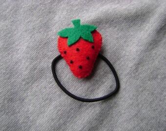 Strawberry Ponytail Holder