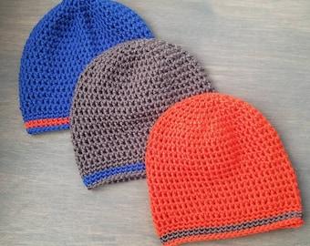 Basic Beanie - Crocheted Hat - Adult/Child/Toddler sizes