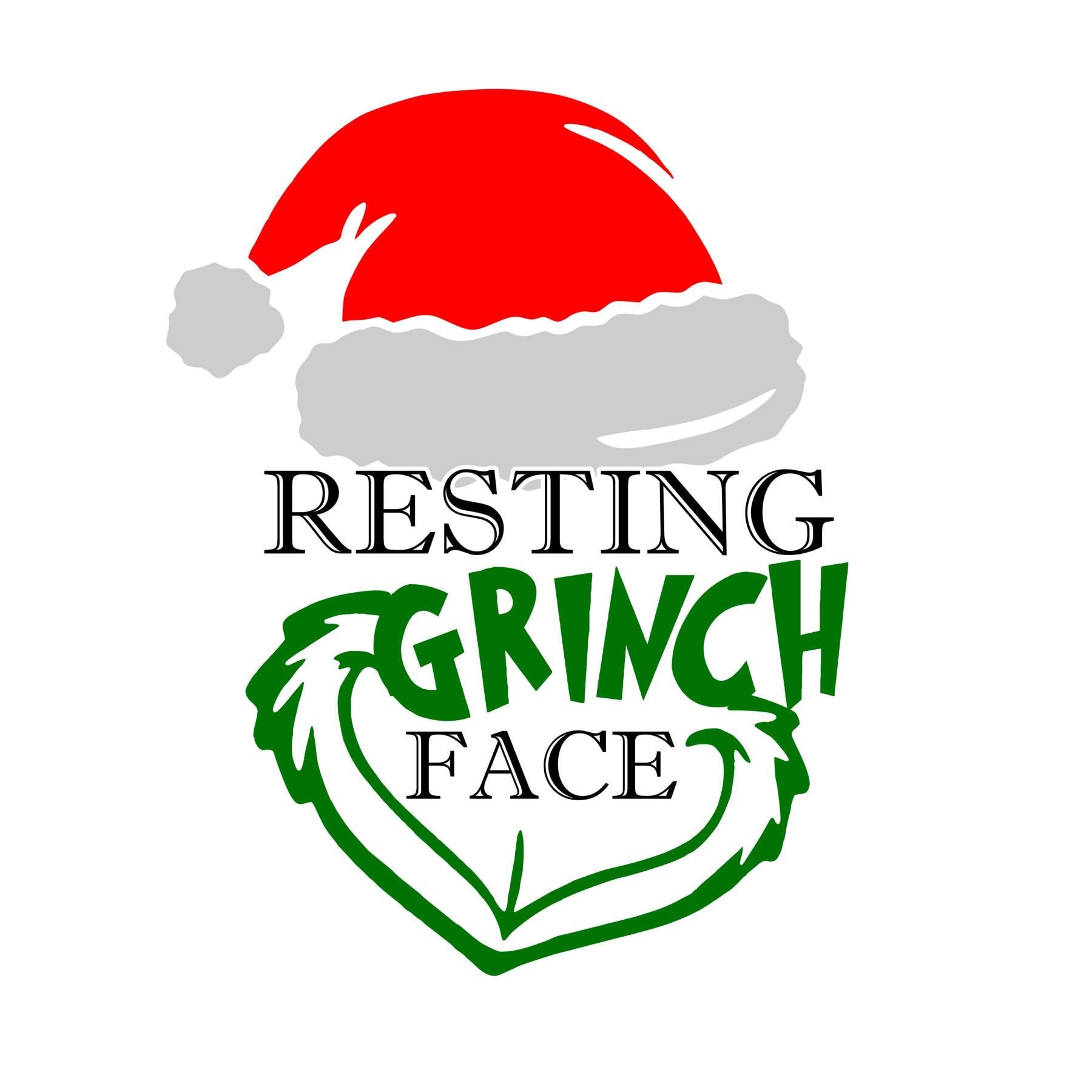 Download Resting Grinch Face SVG File Christmas SVG The Grinch SVG