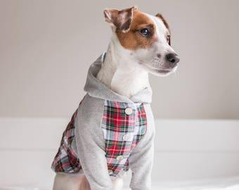 Original Flannel Dog hoodie, Dog jacket, Dog clothing, Puppy Coat, Dog Pullover, Dog flannel jacket, Dog winter coat, Limited Edition