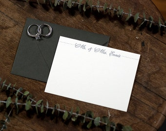 Mr & Mrs Personalized Digitally Printed Stationery | Wedding Stationery | Digitally Printed Correspondence Card | Custom Stationery