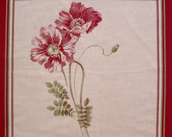 Fabric Panel tapestry poppies coupon