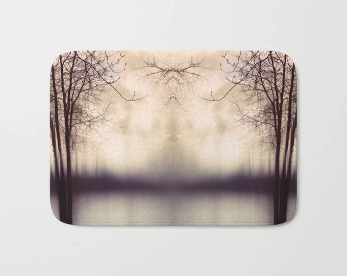 Bath Mat - Abstract Tree Photograph - Shower Bathroom Mat -  Made to Order