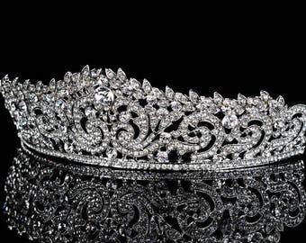 Helena Crown, Wedding Crown, Bridal Crown Swarovski Crystal Wedding Crown Crystal Wedding Tiara, Bridal Tiara