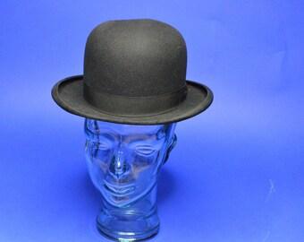 Vintage Estate Crosby & Company Black Bowler Derby Hat