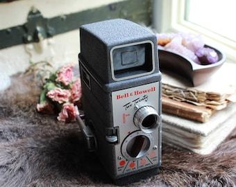 Vintage Bell & Howell Two Twenty 8mm 1950s Movie Camera