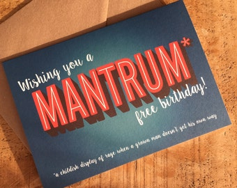 Happy Birthday Card / BFF Card / Friend Card / Man Card / Funny card for him / birthday card for him