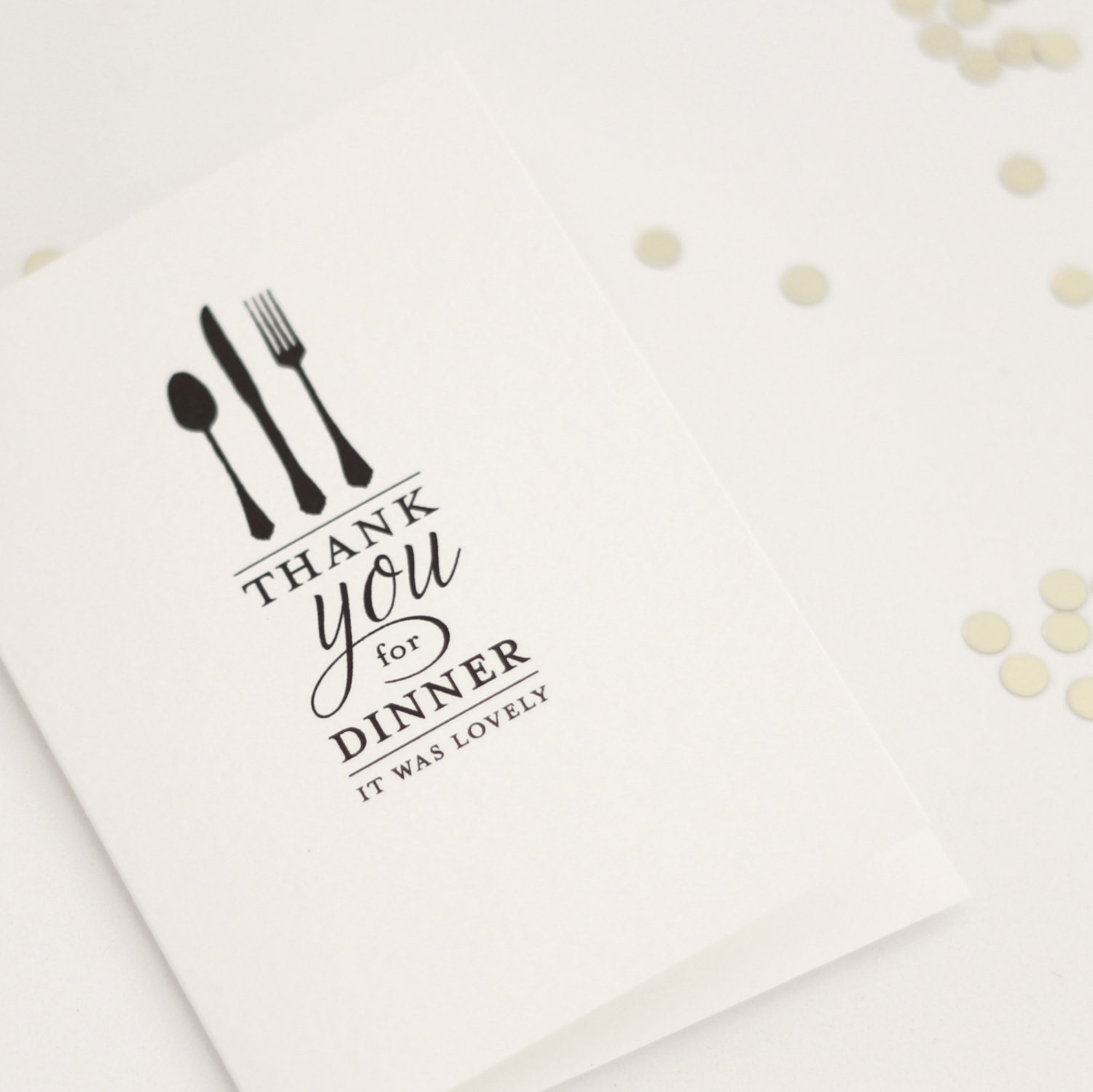 Favorite THANK YOU for DINNER it was lovely / thank you card // dinner TI52
