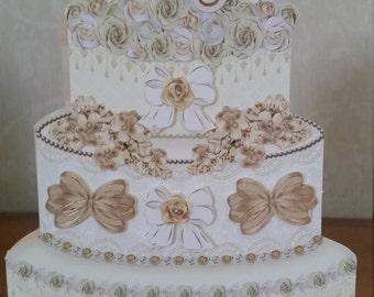 Wedding cake shaped card