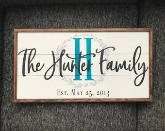 Family established wood sign | family established sign | family est sign | custom family sign | monogram sign | custom sign | shiplap sign