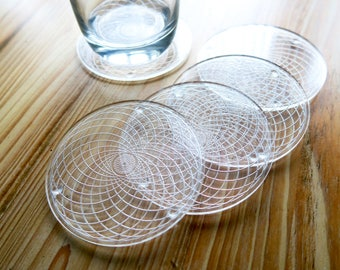 Acrylic Geometric Coaster Set